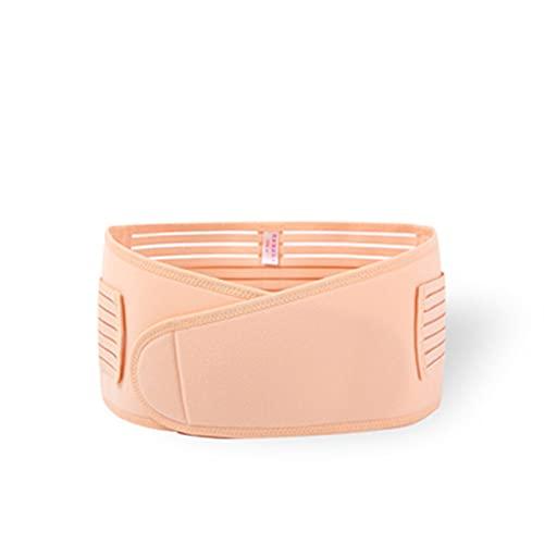 BBNB 1 cinturón de maternidad, cinturón de apoyo para el embarazo, corsé posparto, contorno, soporte postparto para esculpir el cuerpo para mujeres embarazadas (color: beige, talla de maternidad: L)