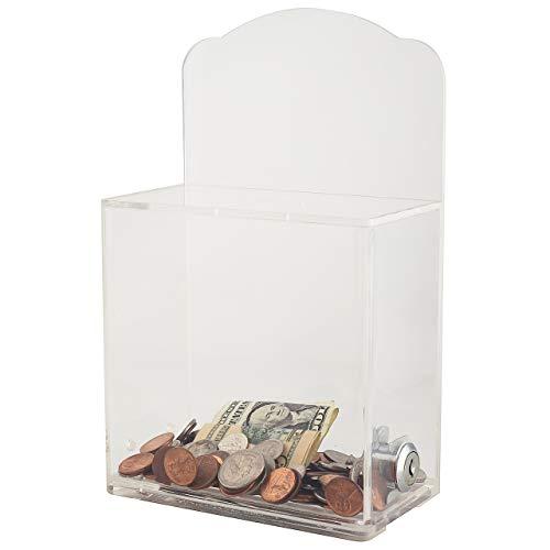 My Wohltätigkeit Boxen–Acryl klar Spende Fundraising Box Box Vorschlagsbox mit Schloss AC04Trinkgläser