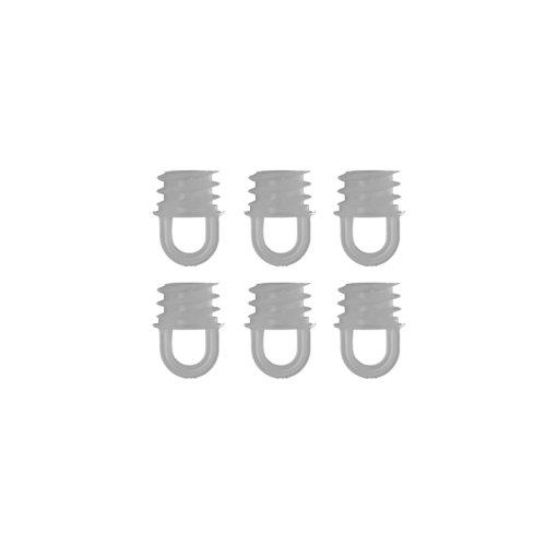 Liedeco Verschlußstopfen für Bohrlöcher 16 mm - Gardinenschienen, Vorhangschienen