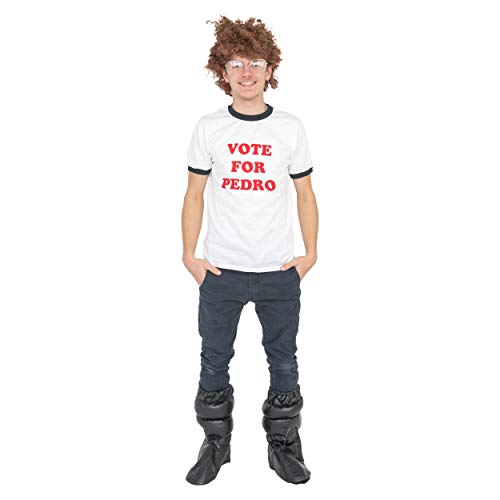 Napoleon Dynamite Complete Costume Kit: Adult Vote For Pedro T-Shirt, Accessory Kit and Moon Boots (Small)