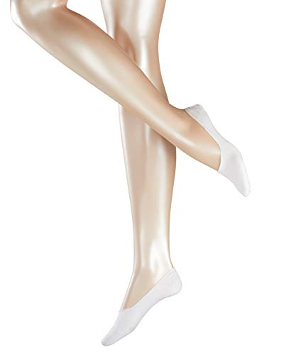 ESPRIT Damen Füßlinge Cotton 2-Pack - Baumwollmischung, 2 Paar, Weiß (White 2000), Größe: 35-38