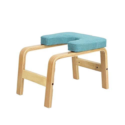 DaQingYuntur Silla de Yoga Invertida de diseño ergonómico e Innovador, Taburete Multifuncional Yoga Aids Workout Chair Inversion Trainer Yoga (Color : Blue)