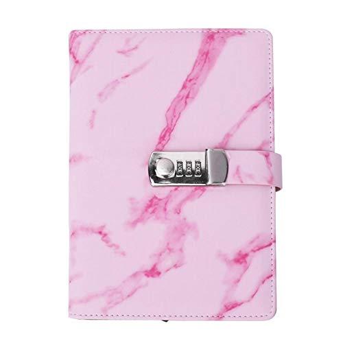 A5 Note Book Custodia in Pelle PU Creativo Password Lock Cover Notebook Scrittura Notepad Diario Copertina del Libro Materiale Scolastico per Ufficio(#1)
