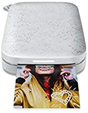 HP Sprocket mobilna drukarka fotograficzna (drukowanie bez atramentu, Bluetooth, wydruk 5 x 7,6 cm) Luna Pearl