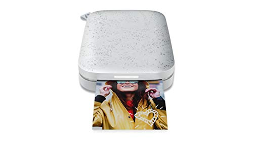 HP Sprocket (1AS85A) Stampante Fotografica Istantanea Portatile e senza Bordi, Bluetooth 5.0 e Led Personalizzabile, Misura 5 x 7.6 cm, Compatibile con Android e iOS, Perla