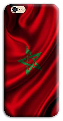 Mixroom - Cover Custodia Back Case in TPU Silicone Morbido per Apple iPhone 6 6s Marocchina Marocco M710