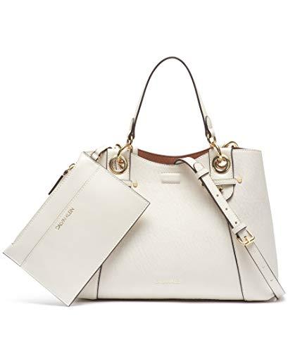 Calvin Klein Olivia Bubble Lamb Satchel, Cherub White