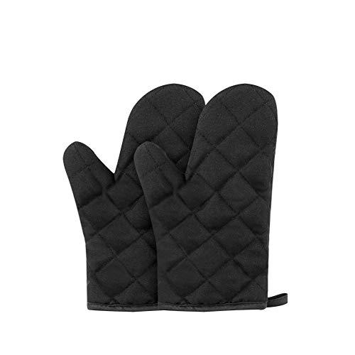 Backen Backofen Handschuhe spezielle Wärmedämmung und hitzebeständige Handschuhe, 1 Paar,schwarz