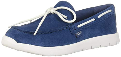 UGG Kids' Beach Moc Slip-On Loafer, Ensign Blue, 4