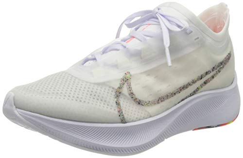 Nike Women's WMNS Zoom Fly 3 AW Running Shoes, White (White/White-Lava Glow 100), 6 UK