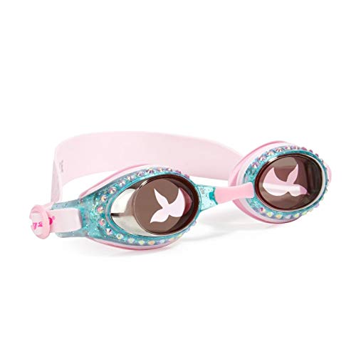 Bling 2O Kids Swimming Goggles - Swim Goggles for Girls - Anti Fog, No Leak, Non Slip, UV Protection with Hard Travel Case - 8+ (Pink Mermaid)