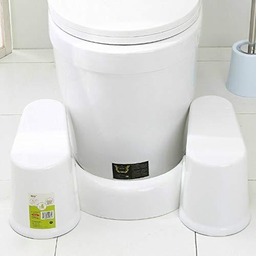 HMG plastica Ispessimento Bagno Antiscivolo Sgabello, Stile: Bianco Altezza 23 Centimetri + 1 Scopino