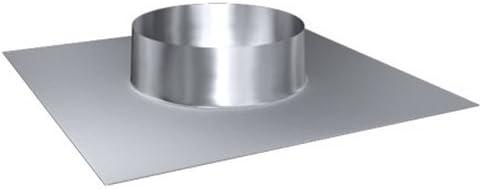 DW 130 Dachdurchf/ührung 35/°-50/° MK sp Z o.o Edelstahl Lochdurchmesser 210 mm Edelstahl gl/änzend Keine Farbe w/ählbar Schornstein