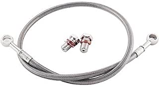KAWASAKI 2008-2013 NINJA 250R / EX 250 R GALFER BRAIDED STAINLESS STEEL FRONT BRAKE LINE KIT