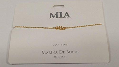 MIA Named Marina De Buchi Bracelet Gold Plated By Sterling Effectz