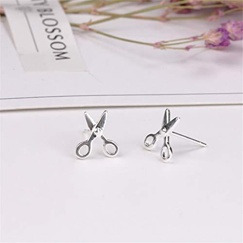 LZIYAN - Mini orecchini a forma di forbici, con paillettes irregolari, idea regalo per parrucchieri