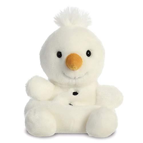 Aurora, 99130, Pupazzo di neve Palm Pals, 15 cm, morbido giocattolo, bianco