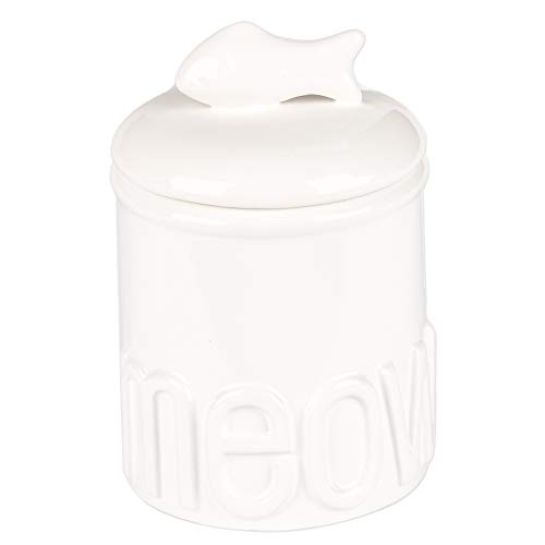 Review Of Creature Comforts Meow Treat Jar - White - Small