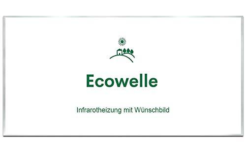 Ecowelle Eigenes Bild & Foto Infrarot Heizung mit Herstellergarantie - Made in Germany - Infrarotheizung mit Wünschbild (750 Watt, Alufarbige Alurahmen)