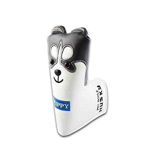 Sunbro Golf ヘッドカバーゴルフ キャラクター Headcoversドライバーカバー ウッドカバー ユーティリティカバー パターカバー 子犬/子猫 (犬 パターカバーピンタイプ)