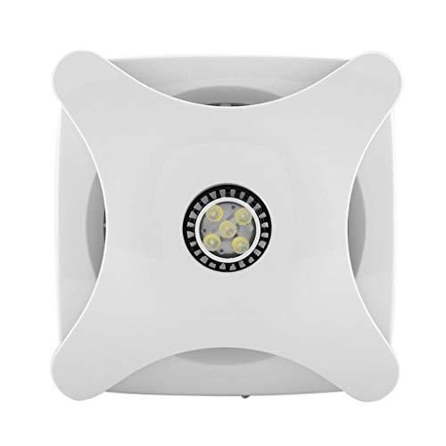 LANDUA 28W Dunstabzugshaube Ventilator Lüfter Dunstabzug Wand Silent Dunstabzugshaube Abluftventilator Mit LED-Licht für Badezimmer Küche Toilette