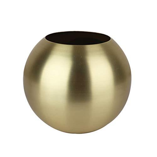 Kamre Sferische vaas RVS bloempot eenvoudige stijl ronde vaas Home Decoration goud