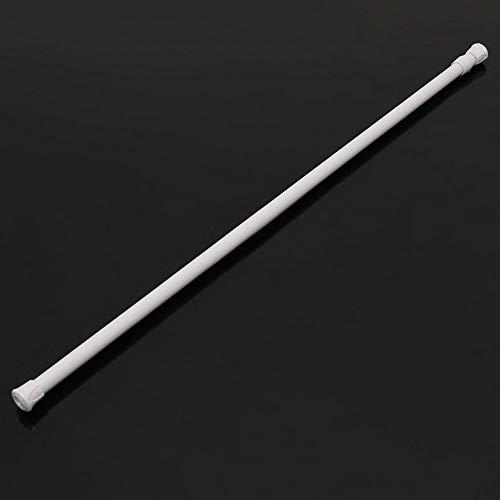 Collectsound extensible télescopique à ressort Tension Tringle de rideau de douche en voile, blanc, 55~90cm
