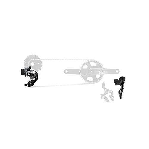 SRAM Force De Etap Axs 1X D1 Électronique Route Groupe Transmission (Manettes, Arrière Der Et Batterie, Chargeur Et Cordon, Et Guide De Démarrage Rapide) Groupset Unisex-Adult, Noir, Taille Unique