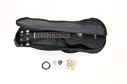 Tenson F502822 - Tenson Ukelele Soprano Set negro Miguel Almería con la bolsa