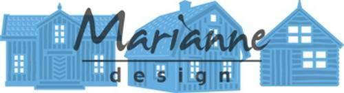 Marianne Design LR0555 Creatables Matrices de Découpe etEmbossing, Maisons Scandinaves, pour Projects de Loisirs Créatifs avec du Papier, Métal, Bleu Clair, 5,8 x 4,3 cm