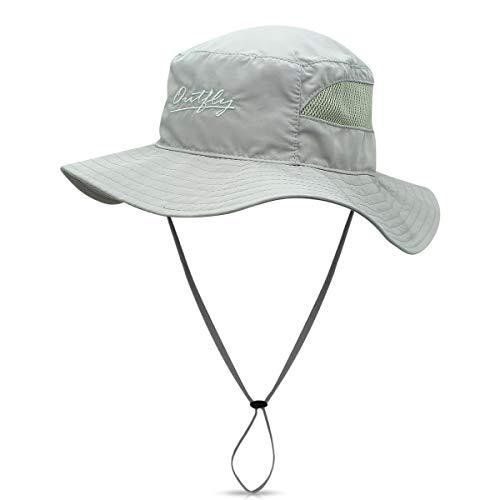 DORRISO Cappello da Sole Uomini Donne All'aperto Protezione Solare 50UV Cappello Largo del Bordo Cappello di Impermeabile a Rapida Essicazione per La Pesca Escursioni in Barca a Vela Grigio