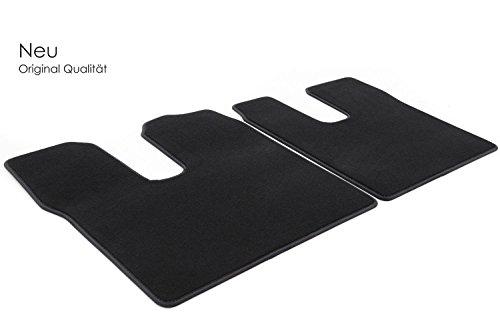 kh Teile Fußmatten/Velours Automatten Original Qualität Stoffmatten 2-teilig schwarz (Fahrer+Beifahrer)