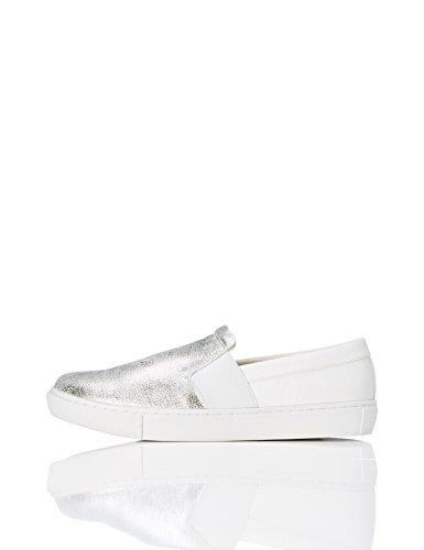 find. Zapatillas sin Cordones Mujer, Plateado (Silver), 38 EU