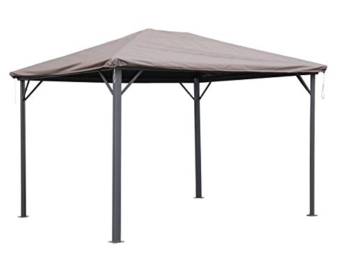 QUICK STAR Gazebo Protective Cover Waterproof 3 x 3.6 m for Fabric and Hardtop Gazebo Replacement Roof Party Tent Cover