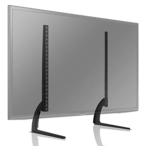 TAVR Universal Table Top TV Stand for Most 27 30 32 37 40 43 47 50 55 60 65 inch Plasma LCD LED Flat or Curved Screen TVs with Height Adjustment,VESA Patterns up to 800mm x 500mm,88 Lbs