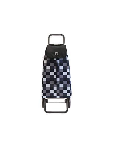 Rolser RG/I-Max DAMA Einkaufsroller, Edelstahl & Polyester, schwarz/Weiss, 41 x 20 x 104 cm