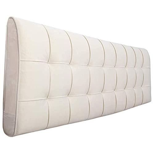 Almohadas de lectura Cabeza blanca almohada Cama de la almohada Respaldo de la capa para la cama Almohadillas de paleta de la cama de la cama Doble Cama Softcase Almohada Casa Lavable Cabeceros de cam