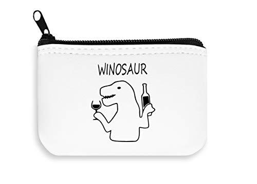 Winosaur dinosaurus wijn drinken rits portemonnee rits munt zak portemonnee