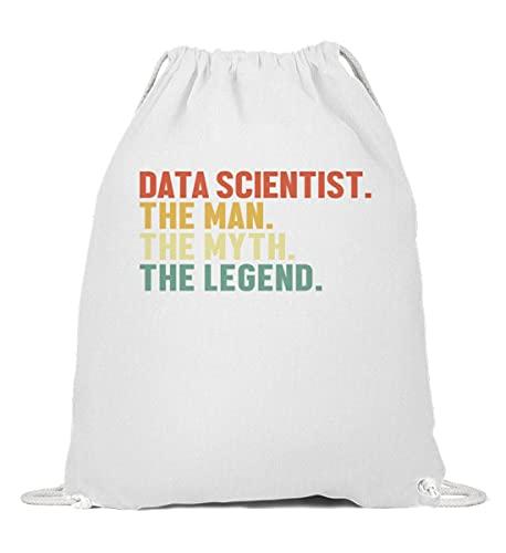 Data Scientist | 01278 Gymsac - Mochila de algodón, color Blanco, talla 37cm-46cm