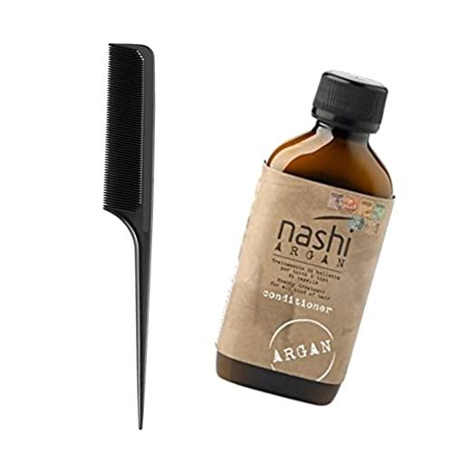 Pettine a coda per districare Carbon Look + omaggio Nashi argan Conditioner Balsamo 200ml
