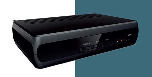 Decoder DVB-T2 HEVCH265 10 BIT, Alta definizione, HDMI, USB con funzione media center, Dolby Sound, SCART