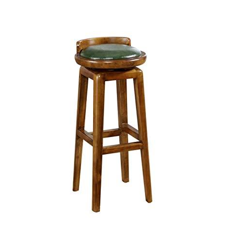 WJSW Bar Möbel Barhocker Amerikanischen Stil Drehbare Barstühle Retro Massivholz Barhocker Küche Frühstücksstuhl für Familie und Business Büro (Größe: 33 × 33 × 81,5 cm) (Farbe: # 1)