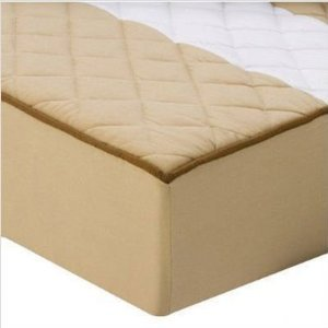 Bacati - Metro Khaki/White/Chocolate Quilted Changing Pad Cover