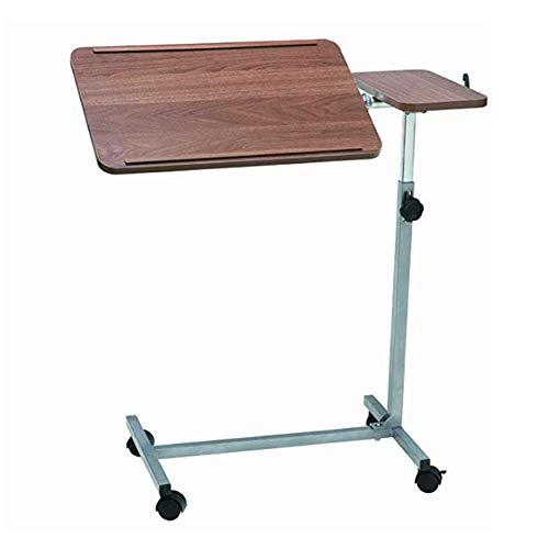 DYWOZDP Dual Action-Bett und Stuhl, Tisch, beweglicher über Bett Tisch, Höhenverstellbarer Rolltisch mit Tiltable Oberfläche, Lesen, Essen, Ältere, Behinderte, Behinderte