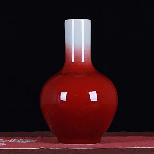n Vaas salontafel Rood Glas Antiek Keramische Vaas Mooie Home Decoratie TV Kantoor Slaapkamer Rood 32 * 20 * 6.5cm Vazen Decoraties