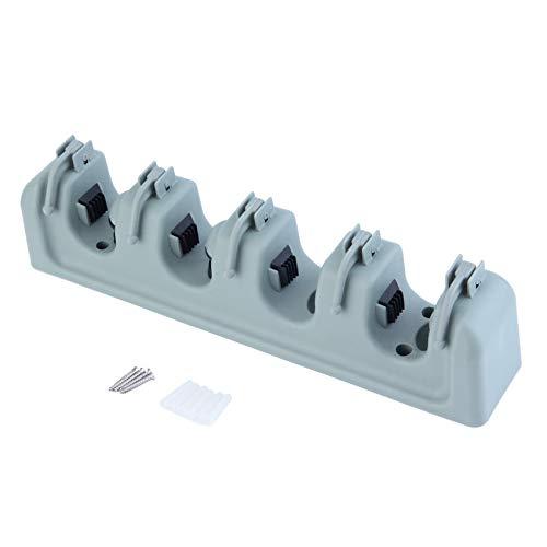 Aan de muur bevestigde mopp-organizer houder borstel-bezem-ophang-bewaar-onderstel-keukengereedschap