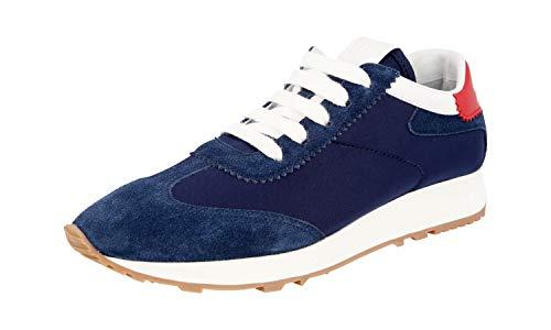Prada Damen Blau Leder Sneaker 1E369L 40 EU