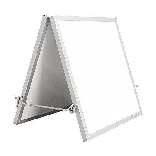 Luqifei Whiteboard Doppelseitig Faltbare Desktop-Whiteboard Kleine Dry Erase White Board for Kinder Zeichnung Lehre Hinweis Memo Planer White Board (Color : AS Shown, Size : 25x38X2cm)