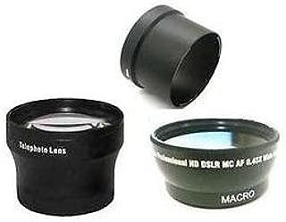 Wide Lens + Tele Lens + Tube bundle for Olympus C-5060, Olympus C-7070 Zoom