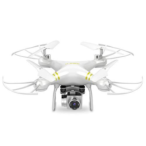 HehiFRlark - Dron aéreo de cuatro ejes Hj14W Hj14Q con mando a distancia para avión HD, antena blanca 720P